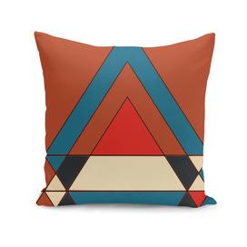 tribal geometry orange