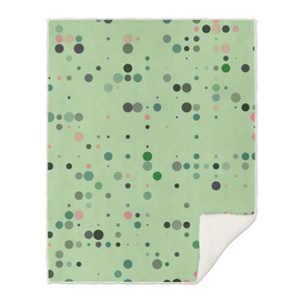 Green and pink dots