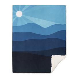 Smoky Blue Sunset
