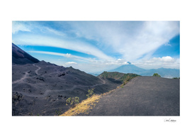 Volcano Pacaya lower crater view panorama in Guatemala
