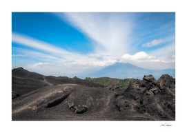 Volcanic rock formations at Pacaya Volcano, Guatemala