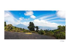 Clouds surrounding Volcano Agua in Guatemala