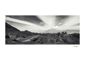 Cat Eyes in the Clouds at Volcano Pacaya Panorama