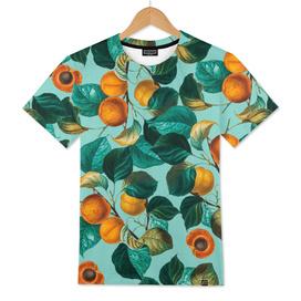 Peach and Leaf Pattern