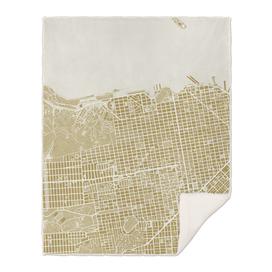 San Francisco city map gold
