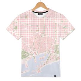 Barcelona city map vintage