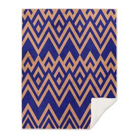 Blue Pines Vintage Pattern