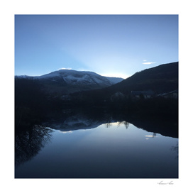 Evening reflection over the Loch