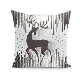 Dancing Deer - Black & White