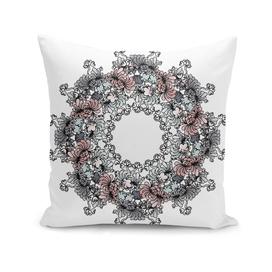 Mandala Flower – Peónia on white background