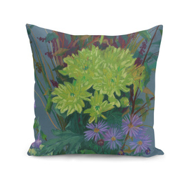 """""""Yellow chrysanthemum"""", floral art, pastel drawing"""
