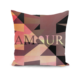 Amour Love Heart Cubic Design