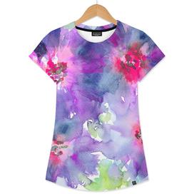 Purple bloom    watercolor