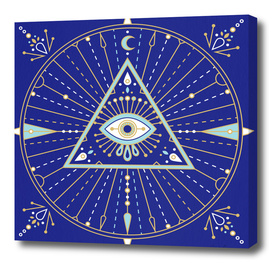 Navy Evil Eye Mandala