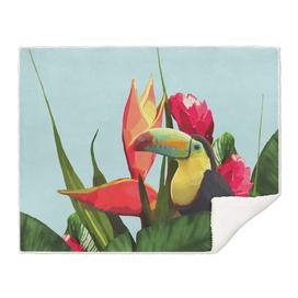 Toucan Tropical Banana Leaves Bouquet
