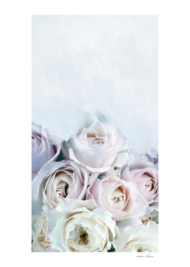 BUNCH OF ROSES WITH WATERCOLOR