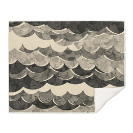 Abstract Beige Sea Waves Design