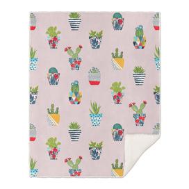 Funny cacti illustration
