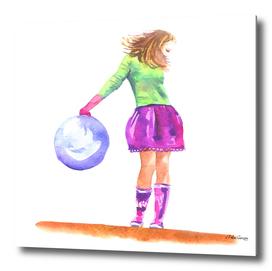 girl pink skirt