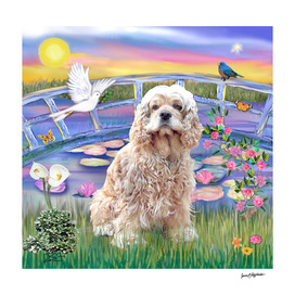 Cocker Spaniel / Lily Pond