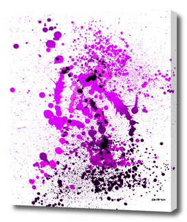 Vivid Violet - Abstract Splatter Art