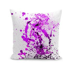 Vivid Violet - Abstract Splatter Art