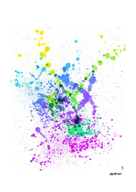 Multicolor Madness - Abstract Splatter Art
