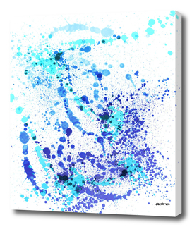 Boom Boom Blues - Abstract Splatter Art