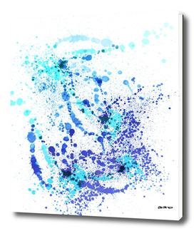 Boom Boom Blues - Abstract Splatter Art