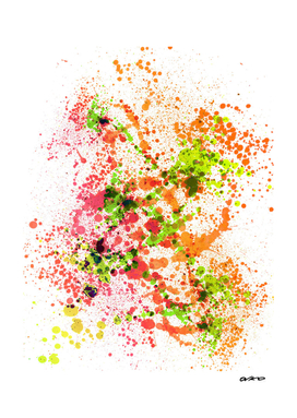 Outlandish Orange - Abstract Splatter Art