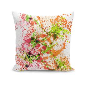 Outlandish Orange - Abstract Splatter Art