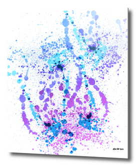 Bad Berry - Abstract Splatter Art