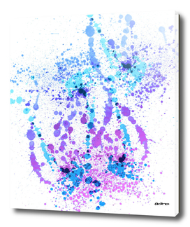 Bad Berry - Abstract Splatter Art