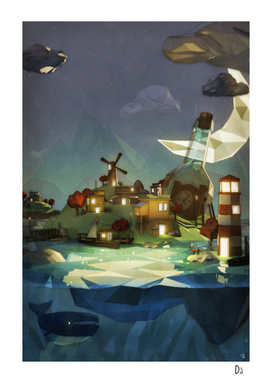 Fantasy Island at Nightime
