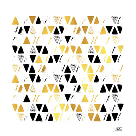 Gold and Black Pattern on White