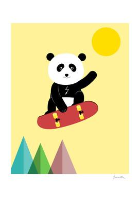 panda and skateboard