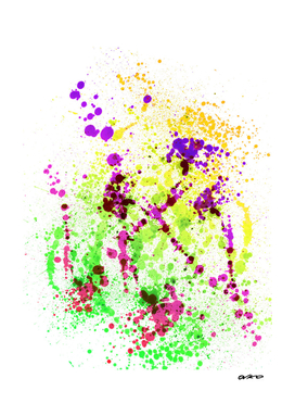 Lime Time - Abstract Splatter Art