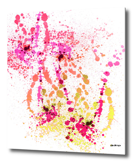 Uplifting Heat - Abstract Splatter Art