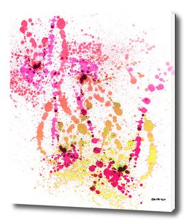Uplifting Heat - Abstract Splatter Art
