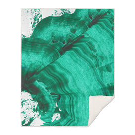 Malachite in the middle