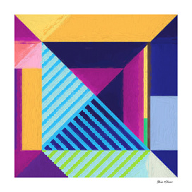 Geometric Pattern 4 Impasto Painting