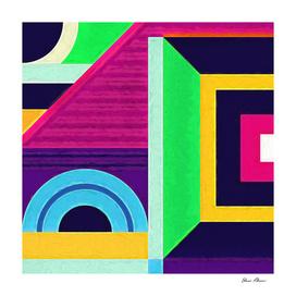 Geometric Pattern 5 Impasto Painting