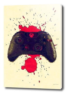 Xbox controller in blood