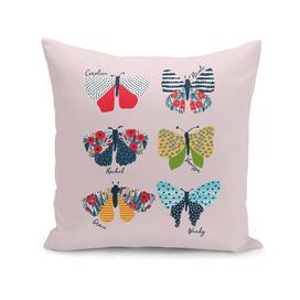 Funny butterflies illustration
