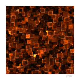 Abstract Orange Cyber glow