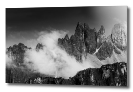 Rising Cloud in the Dolomites