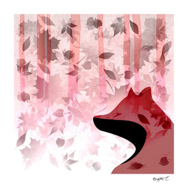 Fox In Falling Leaves Unique Design