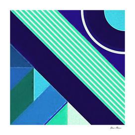 Geometric Pattern 9 Impasto Painting