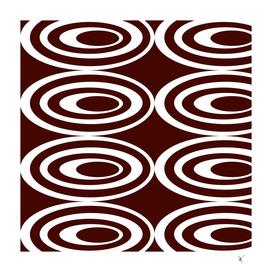 Retro Ovals - Coffee and Cream