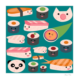 KAWAII sushi teal